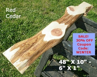 Live Edge Red Cedar Wood Slab Finished DIY Floating Shelf, Natural Edge Shelving, Side Table, Foyer Table, Console Table, Coffee Table 2121
