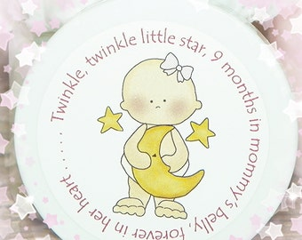 Baby Shower Favors, Personalized Favors, Body Butter, Girl, Baby Girl Favors, Shower Favors, Unique, Twinkle Twinkle Little Star, Girl
