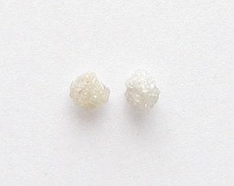 Natural Rough White Diamond, Uncut, Lot (2) of 0.60 carat