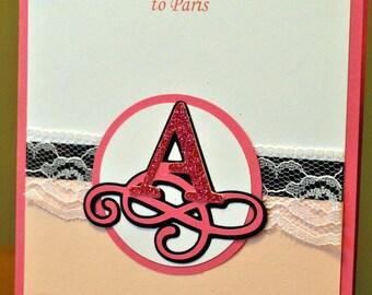 Pink Paris Passport Party Invitations