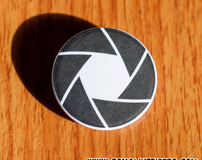 "Aperture Blades - 1.25"" Pinback Button"