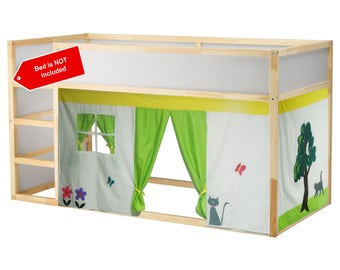 The little house bed Playhouse / Bed tent / Loft bed curtain - free design and colors customization
