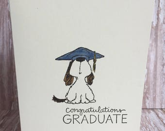 dog graduation card, dog card, graduation card, top dog card, congratulations card,  celebration card, fun graduation card