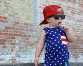 4th of July, Fourth of July Baby Tank Top, Baby Sleeveless, Toddler Boy Gift, Baby Boy Gift, Toddler Shirt, Baby Tshirts, Baby Boy Clothes