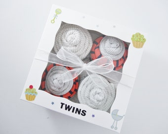 Twin Boy Baby Gift 12 piece set  - Twins Gift - Corporate Baby Gift -  Boy twins gift