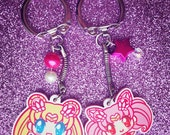 "Sailor Moon AND Sailor Chibi Moon 1.5"" Charms"