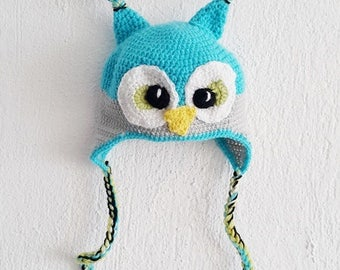 Owl hat, owl crochet hat, toddler hat, baby hat, photography prop, newborn photography, woodland, winter hat, baby shower gift