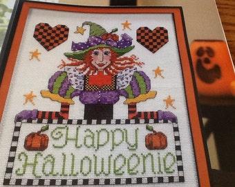 C - HAPPY HALLOWEENIE - Cross Stitch Pattern Only