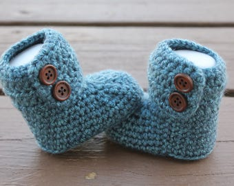 Baby Boy Boots, Crochet Boots, Baby Boy