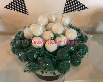 24-Golf Ball Cake Pops or cake balls
