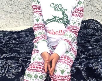 Christmas Pajamas Holiday PJ's Christmas Lounge Outfit Personalized