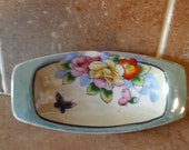 pretty small lusterware porcelain dish Hand painted made in Japan