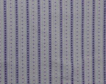 Cotton Flannel Fabric, Purple Fabric, Cotton Striped Fabric Remnant, Cotton Fabric, Striped Flannel - 1 3/8 Yard - CFL2078