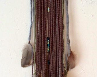 Love and Chocolate  Red Raven Dreamcatcher, handmade, natural & authentic
