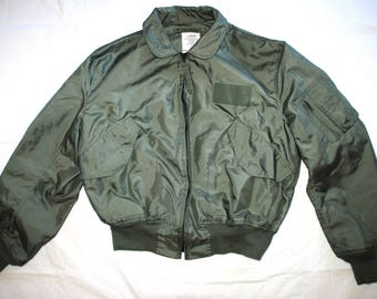US Air Force USAF Green Nomex Fire Resistant Summer Flyers Men's Jacket CWU-36/P  - X-Large