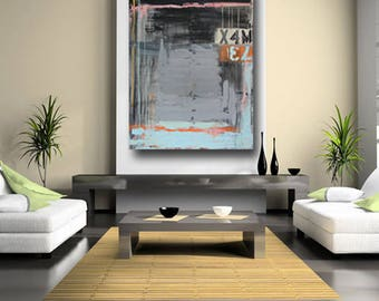 modern abstract, painting large, black wall art, contemporary art, original on canvas, industrial, urban raw art, acrylic art cheryl wasilow