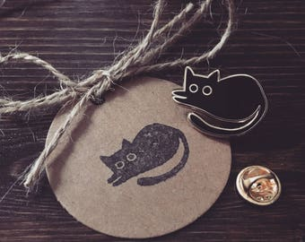 Black Cat Enamel Pin | Shop Logo Pin