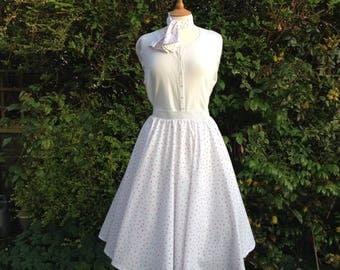 1950's style circle skirt - rockabilly skirt - swing skirt - rock and roll skirt - handmade full circle skirt - pink spot skirt - size 12-16