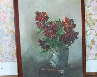 Pretty Vintage Floral Picture