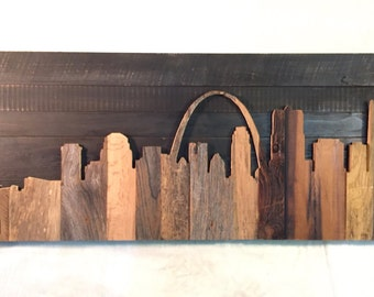 """Hand Crafted St. Louis 48"""" Skyline"""
