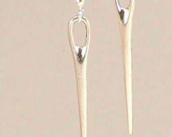 Sewing Needle Jewelry  Sewing Needle Earrings Silver Sewing Needle Charm Sewing Charm  Love to Sew Gift Seamstress Gift Sewing Gift