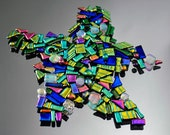 Dichroic Mosaic Pieces, Itsy Bitsy Glass Tiles, Bright & Colorful Mosaic Pieces, Handmade Mosaic Tiles
