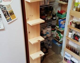 Skinny Shelf. Cubby hole shelf system for pantries or closets.