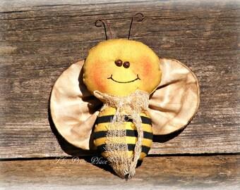 Primitive Bumble Bee Ornament ~ Summer Bowl Fillers ~ Primitive Summer Decor ~ Primitive Summer Ornaments ~ Primitive Home Decor ~ Bees
