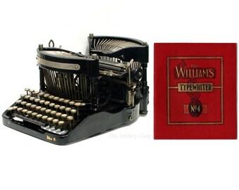 Williams No.4 Typewriter Original Trade Catalog Instant Download