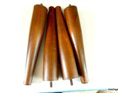 Mid Century Modern Used furniture legs, Walnut tapered table legs,Salvage furniture legs,Retro furniture legs,