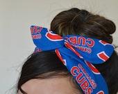 Chicago Cubs, headband, Dolly bow head bands, head band, hair bow