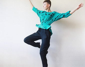 50% OFF Green black one piece peplum overall jumpsuit