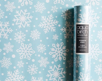 Snowflake Wrapping Paper, Snowflake Gift Wrap, Winter Wonderland, Winter Holiday Wrapping Paper, Christmas Wrapping Paper, Snowflake Wedding