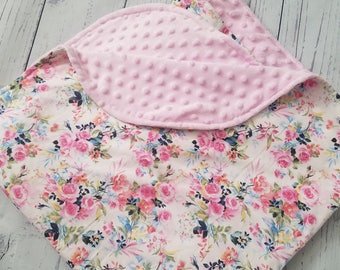 Baby Blanket Floral car seat blanket flower blanket minky blanket crib blanket nursery blanket stroller blanket throw nursery
