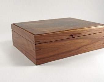 Wooden Jewelry and Watch Box - Black Walnut (JB3288)