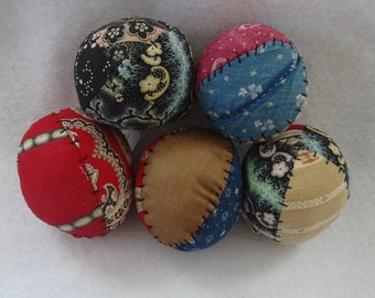 Set of Five Hand Sewn Bowl Fillers