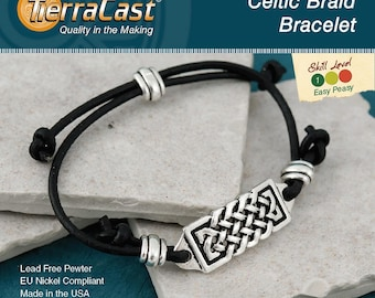 TierraCast DIY Celtic Braid Bracelet Quick Kit