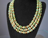 Green and Orange Necklace...