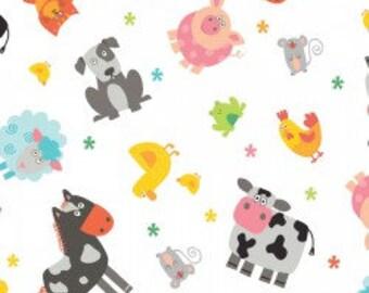 Farm Animals - Funny Farm - Cotton Fabric - Studio E - FARM-02