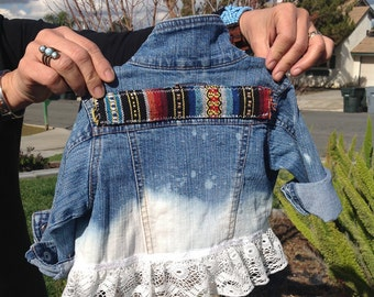 Baby denim jacket bohemian