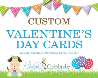 Custom Valentine's Day Cards, Personalized Valentine Cards, Kids Valentine Cards, Classroom Valentine's Day Cards, Valentine's Day Cards