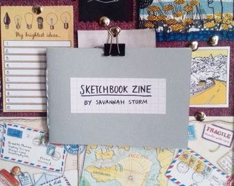 sketchbook art zine