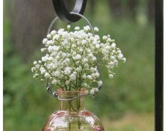 Bud Vases, Craft Vases, Small Vases, Hanging Vases, Glass Floral Containers Round Glass