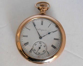 1899 Elgin Size 12, 17 Jewels Grade 192 Pocket Watch. Keeps accurate time
