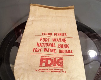Vintage Bank Bag - Fort Wayne National Bank