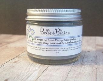 Moonstone Blue Tansy Face Balm- Plant Based Organic Skin Care- Vegan Formula- 2oz