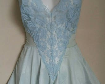 Vintage nylon lace teddy sz sml med