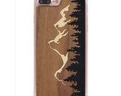 Grand Teton Inlay iPhone 7 Plus Real Wood Slim Clear Case - Made in the USA - FREE Shipping