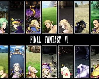 Video Game Art Print - Final Fantasy VI - Super Nintendo Tribute