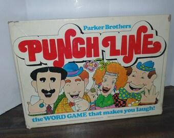 Vintage 1978 PARKER BROTHERS Punch line Word Game Humor Complete 70s